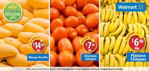 Walmart : Martes de frescura 24 de Febrero