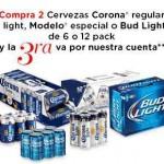 Cervezas Corona, Modelo y BudLight 3x2 OFFDE