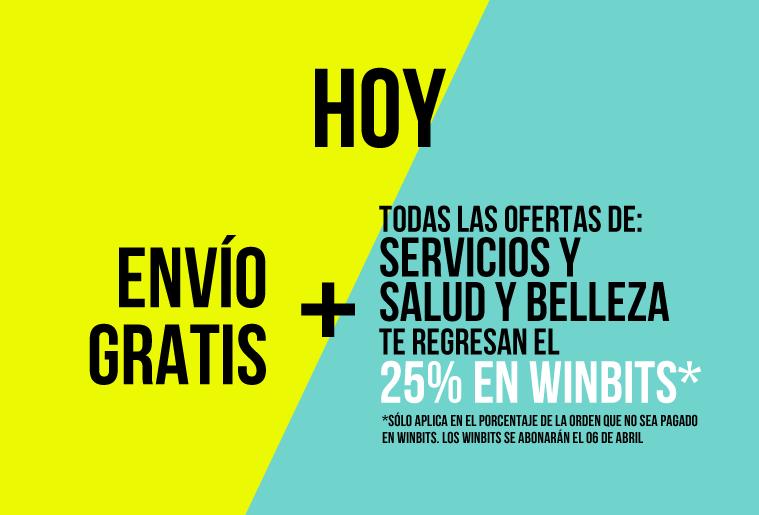Clickonero: Envío gratis y 25% en Winbits en Servicios, Salud y Belleza