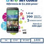 HTC M8 Telcel 700 Offde