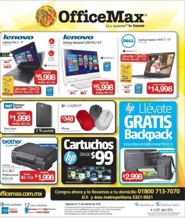 Office Max: Folleto de Promociones del 9 al 15 de Marzo