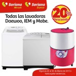Soriana Mercado 20 menos en lavadoras OFFDE