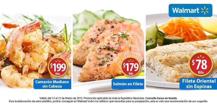Walmart: Fin de semana de pescados y mariscos del 12 al 15 de Marzo