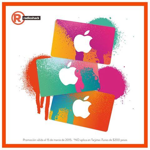 RadioShack: 15% de descuento en tarjetas iTunes