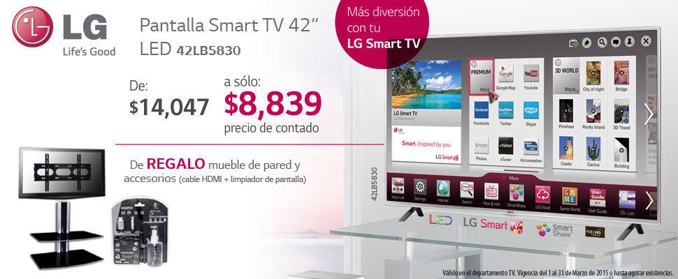 Sears: Pantalla LG LED 42″ más soporte de regalo y kit de limpieza a ...