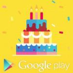 tercer aniversario de google play
