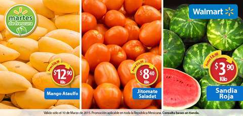 Walmart: Martes de Frescura 10 de Marzo