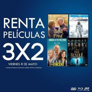 Blockbuster: 3×2 en Rentas de Películas
