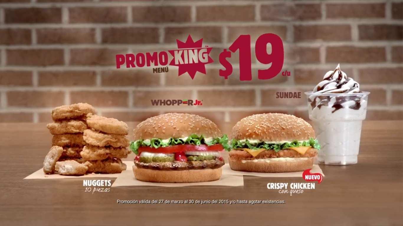Burger King: Wooper Jr, Nuggets, Sundae y Crispy Chiken a $19 cada uno