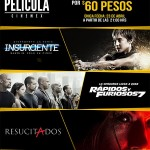 Cinemex 3 boletos por 60 pesos