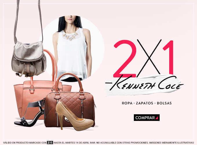 Dafiti: 2×1 en productos de la marca Kenneth Cole