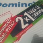 Dominos Pizza 2x1 todos los dias OFFDE