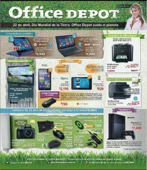Office Depot: Folleto de Promociones del 1 al 30 de Abril 2015