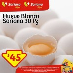 Huevo Blanco Soriana 45 OFFDE