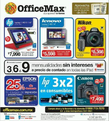 Office Max: 3×2 en Consumibles HP y 25% menos en Epson