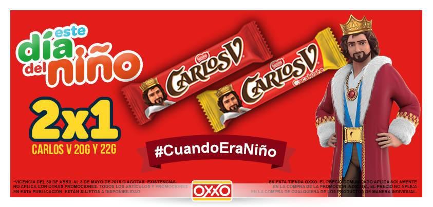 OXXO: 2×1 en Chocolates Carlos V