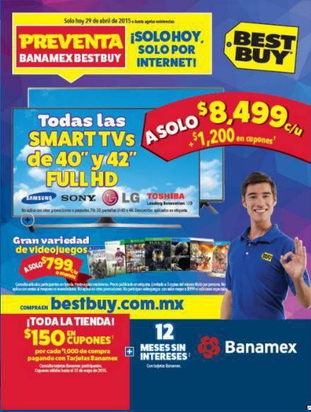 Best Buy: Preventa Azul Online Banamex $150 en Cupones por Cada $1,000 y más ofertas