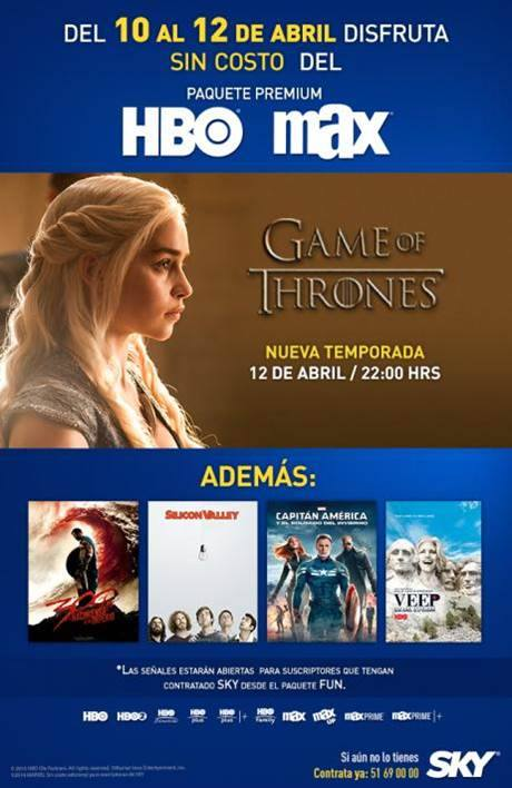 HBO: Paquete HBO Gratis del 10 al 12 de Abril