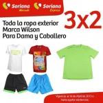 Soriana Mercado 3x2 ropa wilson OFFDE