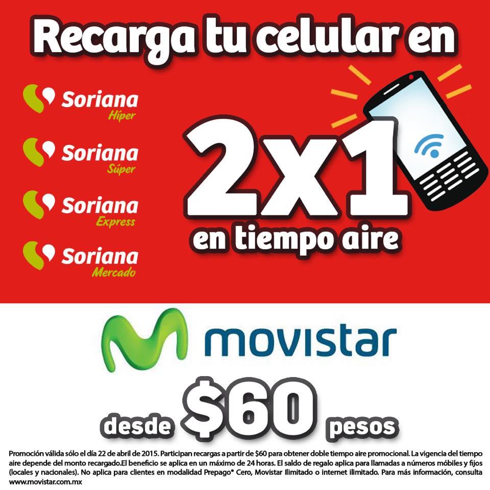 Soriana: Hoy es día Movistar a partir de $60   Oferta
