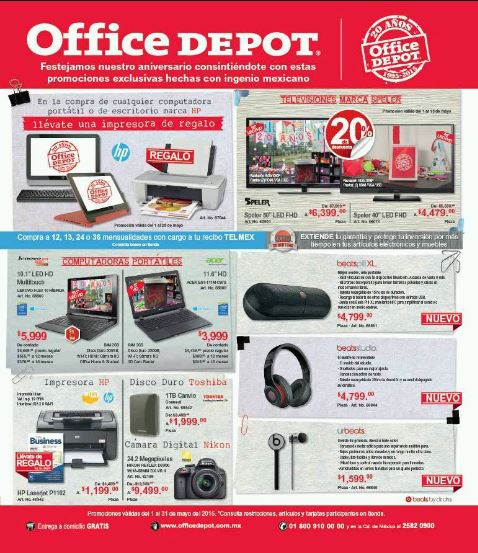 Office Depot Folleto De Promociones Mayo 2015 Impresora