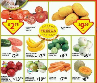 Soriana: Martes y Miércoles de Frutas y Verduras 26 y 27 de Mayo