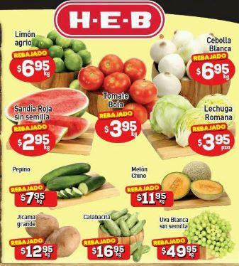 HEB: Tres Días de Frutas y Verduras del 26 al 28 de Mayo