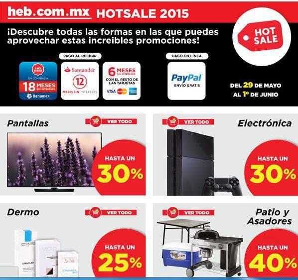 Hot Sale HEB: Hasta 30% de descuento en Pantallas y Más