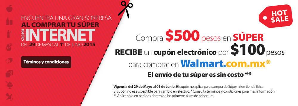 Hot Sale Walmart: $100 de bonificación y envío gratis haciendo el super