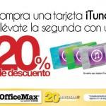 Office Max 20 menos en tarjetas iTunes OFFDE