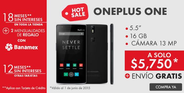 Hot Sale Linio: Celular Oneplus One a $5,750 Envío Gratis