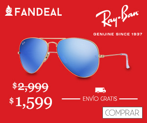 Fandeal: Lentes RayBan Hasta 47% mas 20% adicional quedando en $1,279 con Envío Gratis