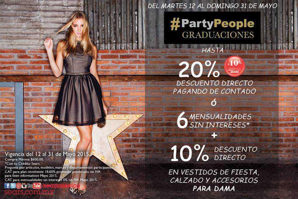 Sears Graduaciones Hasta 20 De Descuento En Vestidos De