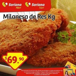 Soriana: Promoción Tarjeta Lealtad 25 de mayo Milanesa de Res