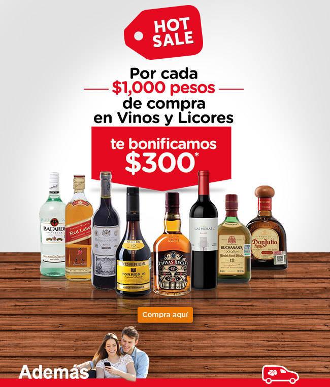 Hot Sale Superama: $300 de Bonificacón en Vinos y Licores, Envío Gratis y Más
