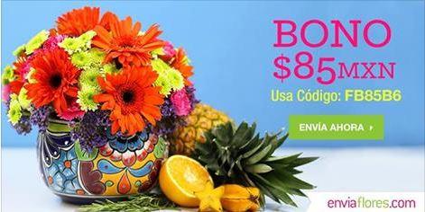 Envía Flores: Bono de $85 en compra mínima de $399