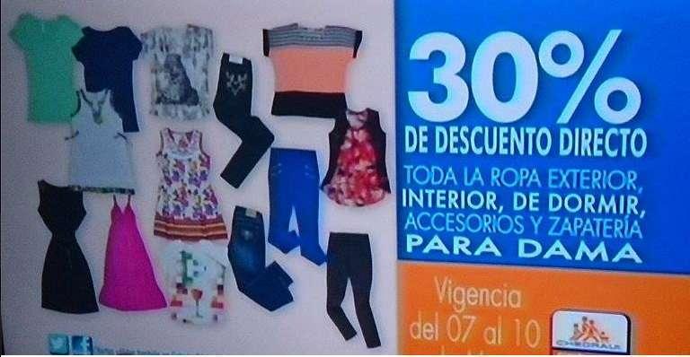 Chedraui 30 de descuento en toda la ropa exterior for Ofertas de ropa interior