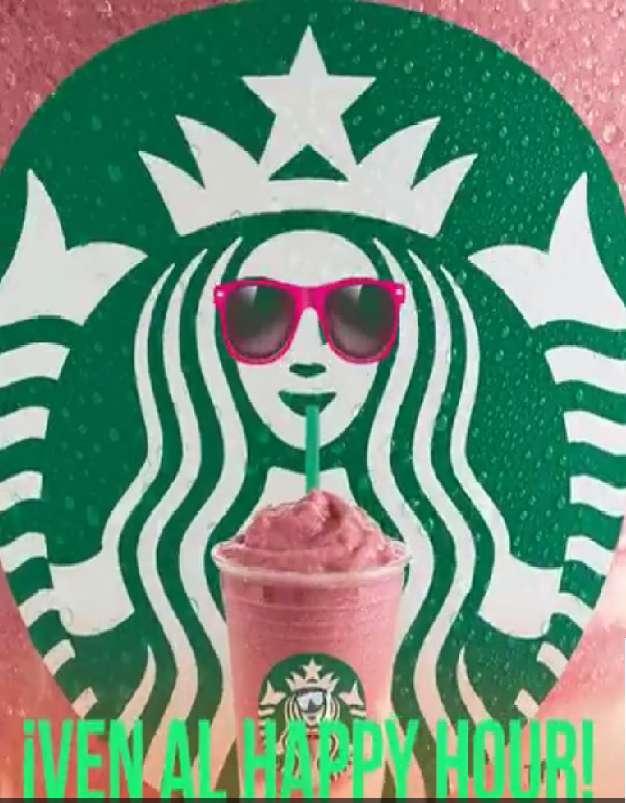 Starbucks: Frapuchinos al 2×1 Happy hour