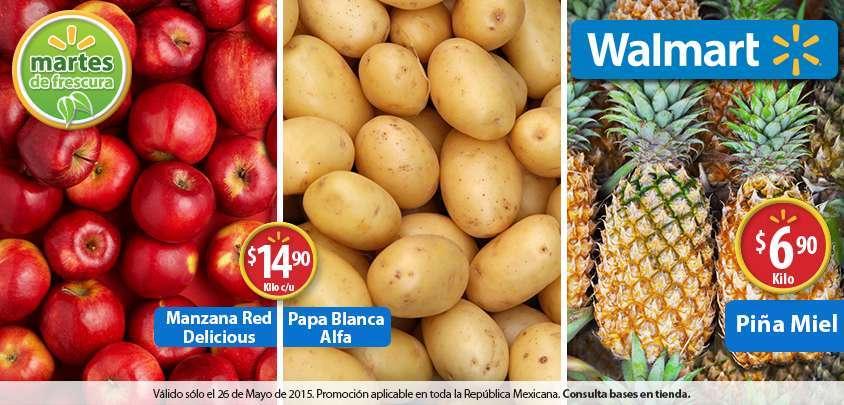 Walmart: Martes de Frescura 26 de Mayo