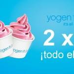 yogen fruz 2x1 todos los jueves