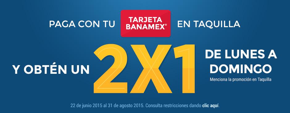 Cinépolis: 2×1 pagando con Tarjeta Banamex al 31 de Agosto