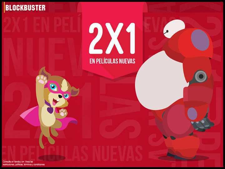 Blockbuster: 2×1 en Películas Nuevas en Blu-Ray y 3D del 15 al 21 de Junio