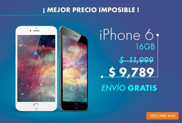 Linio: iPhone 6 16GB a $8,810