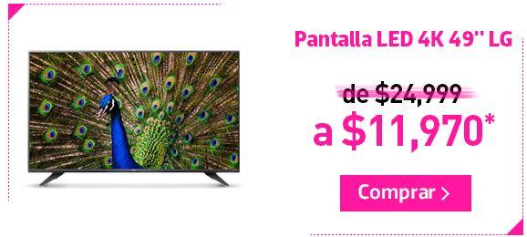 2cf145a8637 Liverpool Online: Pantalla LG LED Smart TV 4K 49″ a $11,970