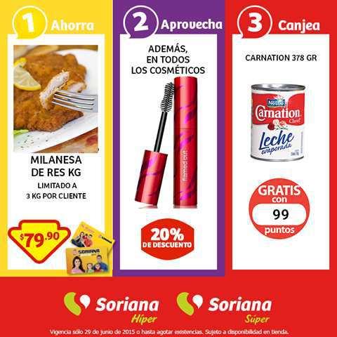 Soriana: Promoción Tarjeta Lealtad 29 Junio Milanesa de Res