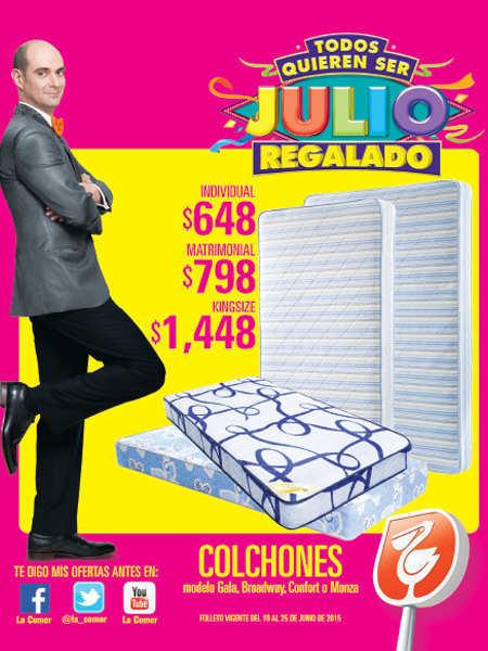 Julio regalado 2015 folleto de promociones del 19 al 25 de junio - Precios de somieres y colchones ...