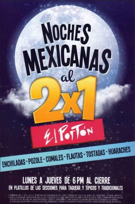 El Portón: 2×1 en Cenas Mexicanas hasta el 30 de Junio