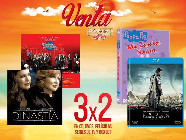 Sanborns: Venta al Rojo Vivo 3×2 en CD, DVDs, Películas y más