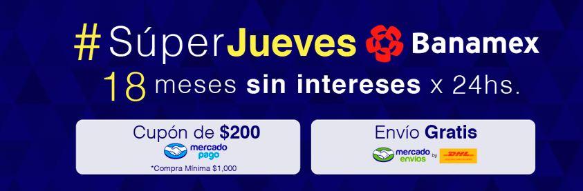 Mercado Libre: $200 de descuento con compra mínima y meses sin intereses con Banamex
