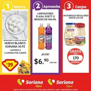Soriana: Promoción Tarjeta de Lealtad 25 de Junio Huevo Blanco 30 piezas a $39